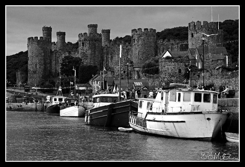 Conway Castle and Boats: Photograph by Steve Milner