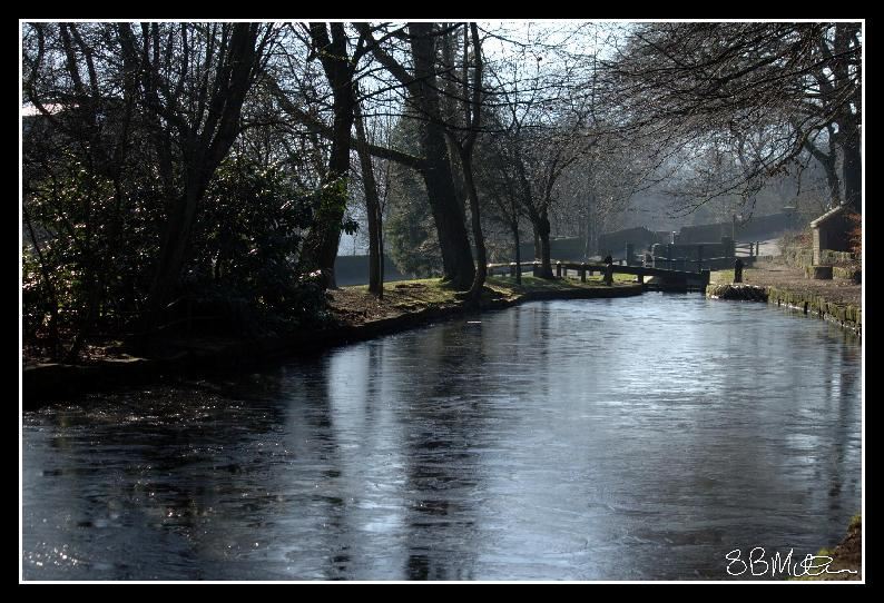 Frozen Canal at Uppermill: Photograph by Steve Milner
