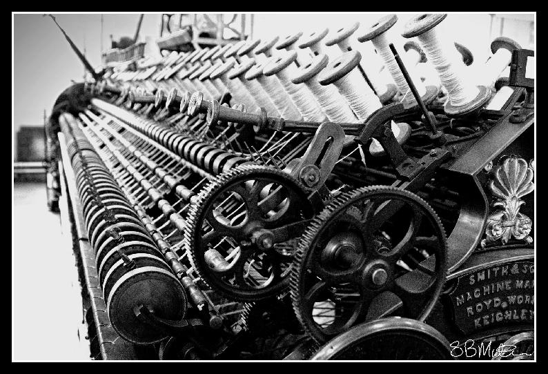 Yarn Winding Machine: Photograph by Steve Milner